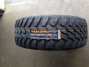 33x12 50x18 33 12 50 18 Thunderer MT 10 Ply Mud Tire Set of 4