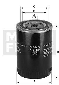 Mann Filter W940 62 Oil Filter for Fiat