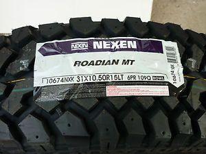 4 New Lt 31 x 10 50 R 15 LRC 6 Ply Nexen Roadian M T Mud Tires