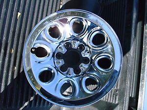 "2000 2013 Chevy Silverado Sierra Chrome 17"" Steel Wheel Wheels Rims Factory"