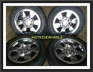 "20"" GMC Yukon Denali Sierra Chrome Clad Wheels Tires 275 55 20 5419 940B"