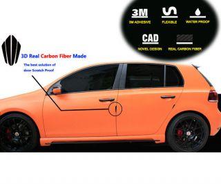 Auto Car Real Carbon Fiber Side Door Molding Moulding Trim Edge Protection Guard