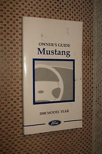 2000 Ford Mustang Owners Manual Original Glovebox Book