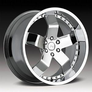 "19"" Niche F18 F 18 Chrome 19 inch 5 Lug 5x4 5 One Single Replacement Wheel Rim"