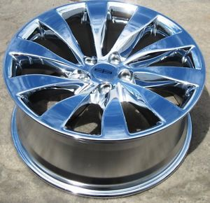 """Exchange Your Stock 4 New 19"""" Factory Lincoln MKS Chrome Wheels Rims 09 13"""
