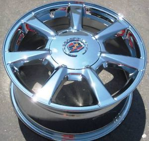 "Set of 4 New 17"" Factory GM Cadillac cts Chrome Wheels Rims 2008 13"