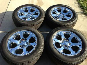 "20"" 2013 Dodge 1500 RAM Chrome Clad Wheels Rims Tires 17 18"