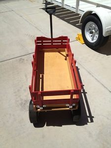 Radio Flyer Kid 29 Red All Terrain Cargo Wood Wagon ATW Air Filled Rubber Tires