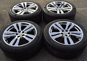 "19"" Jaguar XJ Tobia PVD Chrome Wheels Rims Tires Factory Wheels 59873"