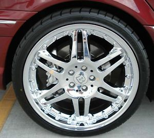Mercedes 18 in Brabus Monoblock 6 Style Rims Chrome 18 8 5 18 9 5 E350 S500 AMG