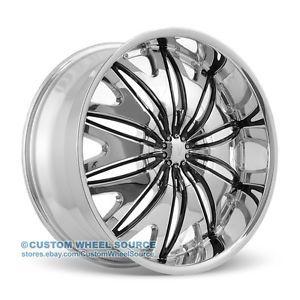 "18"" Velocity VW820 Chrome Wheel and Tire Package Rims Kia Lexus Lincoln Mazda"