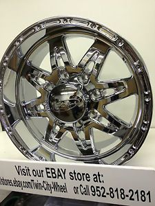 18 inch Chrome Raceline Renegade Wheels Rims Ford F250 F350 Excursion 8 Lug 170