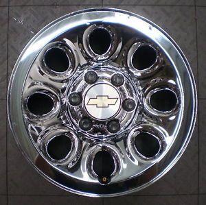 "8069 Chevy Silverado 1500 17"" Factory OE Chrome Clad Steel Wheels Rims Chevrolet"