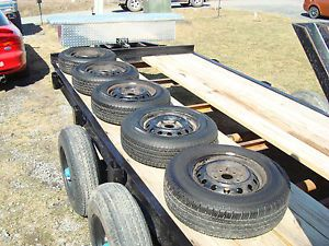 1997 Toyota Camry 5 Wheels w Tires Hubcaps Hankook Optimo P195 70R14 75 Tread