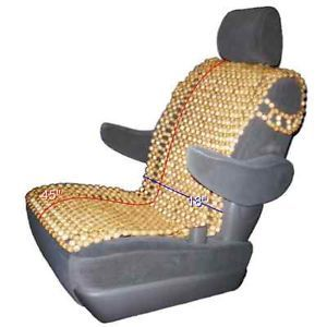 Wood Beaded Car Seat Cushion Massage Cover Wooden Beads Massaging Comfort