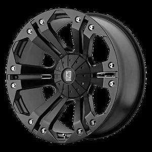 "18"" XD 778 Monster Black Rims Nitto Trail Grappler Tires 295x70x18 Wheels"