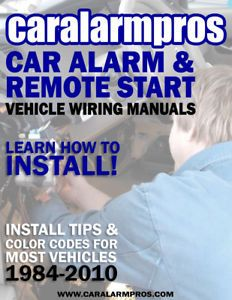 Caralarmpros Car Alarm Remote Starter Install Wiring Diagrams CD