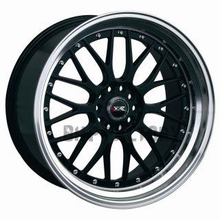 "XXR 521 17"" 7J ET38 4x114 3 4x100 Black Lip Tuner BBs Alloys Rims Wheels Z1563"
