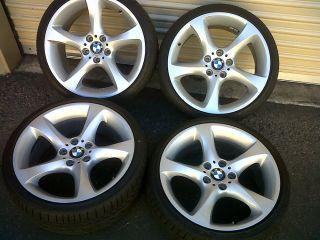 """19"""" BMW Factory 230 BBs Wheels Tires Rims 328 335 328i 335i Excellent"""
