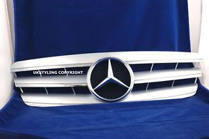 Tuning Grille Mercedes W203 Sports C240 C320 Silver New