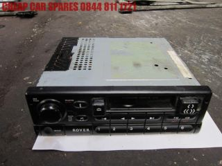 Rover 400 95 99 2 0 TD Original Radio Stereo Cassette Player No Code