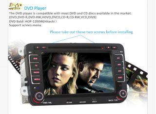 In Dash Car Stereo CD DVD Player GPS iPod Radio F VW Golf 5 6 Passat CC Tiguan