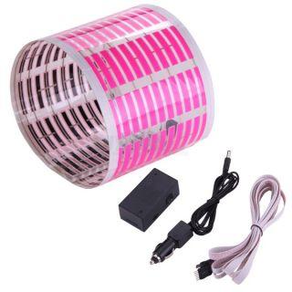 Car Sticker Rhythm Sound Music Activated Pink Light Lamp Equalizer