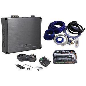 Kicker 11IX1000 1 1000 Watt RMS Mono Car Amplifier 4 Farad Capacitor Amp Kit