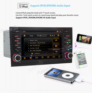 2Din Car Radio CD DVD MP3 Player GPS Bluetooth iPod Audio F Audi A4 2003 2008