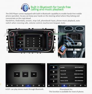 Android 4 1 Capacitive Ford Focus Mondeo HD 3G WiFi GPS Car DVD Player Radio HD