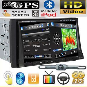 """IR2230 GPS Map Camera Double DIN in Dash 7"""" Car Stereo DVD Player Radio BT iPod"""