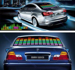 Car Sticker Music Rhythm LED Flash Light Lamp Sound Activated Equalizer 3 Sizes