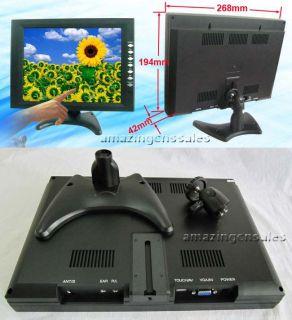 "10 4"" inch Touch Screen Monitor LCD TFT VGA AV Car POS"