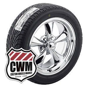 17x8 Chrome Wheels Rims Nexen N7000 Tires 235 55ZR17 for Chevy Corvette C3 1974