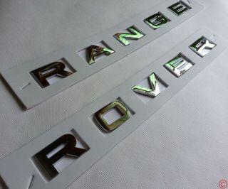New Hood Head Trunk Letters Chrome Emblem Badge for Land Range Rover Silver