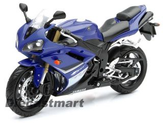 NewRay 1 12 2008 Yamaha R1 Diecast Model Motorcycle Blue