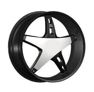 """22"""" Black Wheels Tires 5x115 Chrysler 300 Dodge Charger Magnum Explorer"""