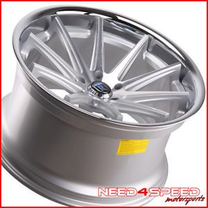 """20"""" Nissan 370Z Rohana RC10 Deep Concave Silver Staggered Wheels Rims"""