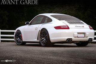 "19"" Porsche 911 997 Carrera 4S Turbo s Wide Ruger Mesh Black Concave Wheels Rims"