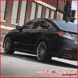 "20"" Acura RL Rohana RC20 Matte Black Concave Wheels Rims"