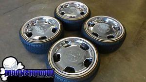 """RARE Lorinser D93 Chrome 20"""" Wheels Rims Vogue White Wall Tires Cadillac"""