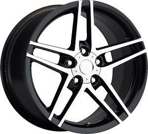 17x8 5 18x9 5 C4 C5 C6 Z06 ZO6 Corvette Camaro Firebird Wheels Rims Black