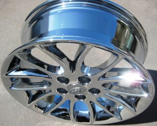 "Exchange Your Stock 4 17"" Factory Hyundai Genesis Chrome Wheels Rims 2009 12"