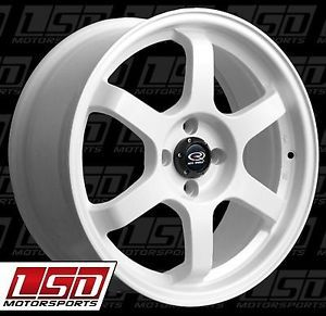17 Rota Grid White Rims Wheels 17x9 42 5x100 Subaru WRX