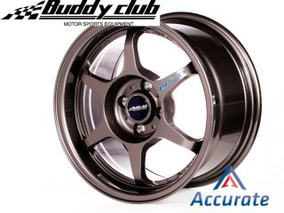 Buddyclub P1 Racing SF 15x8 0 32 4x100 Gunmetal Set of 4 EG EK Da DC2 Miata