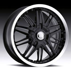 "16"" inch 5x100 5x4 5 Black Machined Wheels Rims 5 Lug Chevy Ford Dodge Scion"