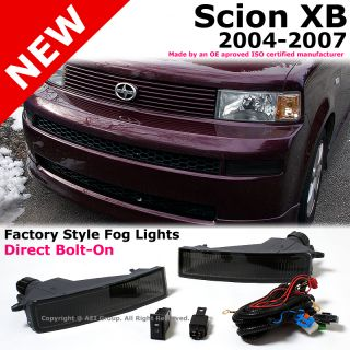 Scion XB 04 07 Bumper Smoke Fog Light Lamps Kit with Wiring Switch Replacement
