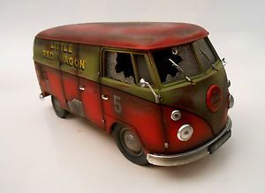 66 Volkswagen VW Combi Weathered Rat Rod Barnfind 1 18 Diorama Parts Coca Cola