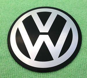 1 NEW VW VOLKSWAGEN BEETLE BUG BUS VAN ALUMINUM WHEEL CENTER CAP EMBLEM DECAL