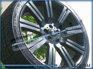 "Range Rover HSE Sport Wheels Rims Tires Package 22"" inch Matte Black Finish"